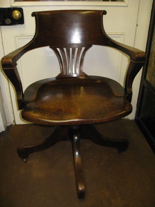 Mahogany Desk  Office Chair  101432  Sellingantiquescouk