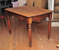 Small Vintage Victorian Pine Farmhouse Table   451211 ...