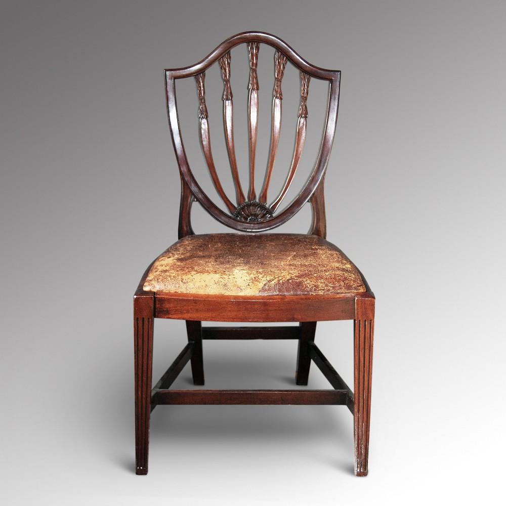 A Hepplewhite Single Chair  260712  Sellingantiquescouk