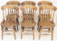 Set 6 Farmhouse Kitchen Chairs | 265796 | Sellingantiques ...