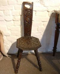 A 19th Century Welsh Oak Spinning Chair C.1850