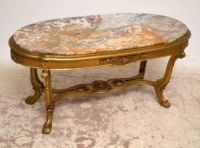 Antique French Gilt Wood Marble Top Coffee Table | 235721 ...