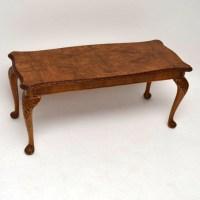 Antique Queen Anne Style Burr Walnut Coffee Table | 455012 ...