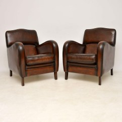 Distressed Leather Armchair Uk Bathroom Vanity Stools Or Chairs Pair Of Antique Armchairs 601452