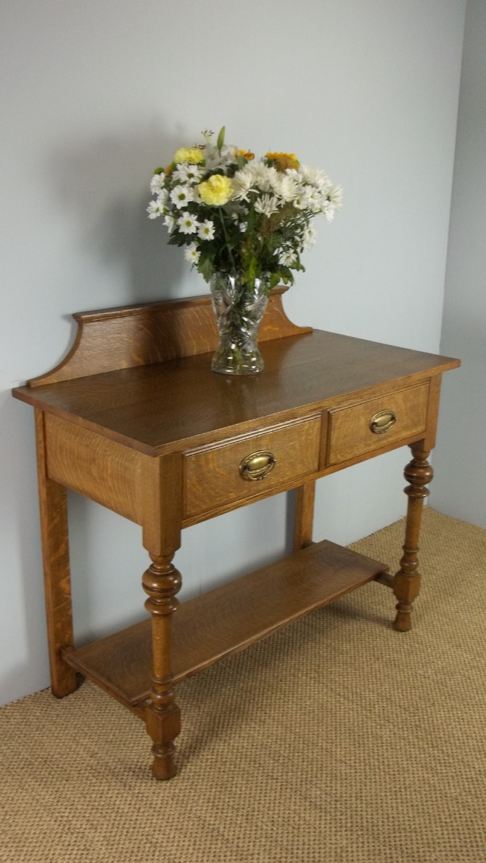 Antique Oak Side Hall Table Of Arts And Crafts Lowboy Console Table Design 393901 Sellingantiques Co Uk