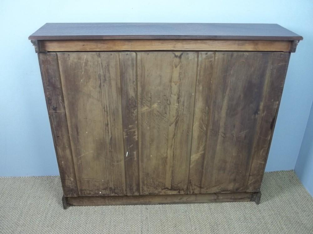Antique 19th Century Walnut Open Dwarf Mid Oak Mahogany