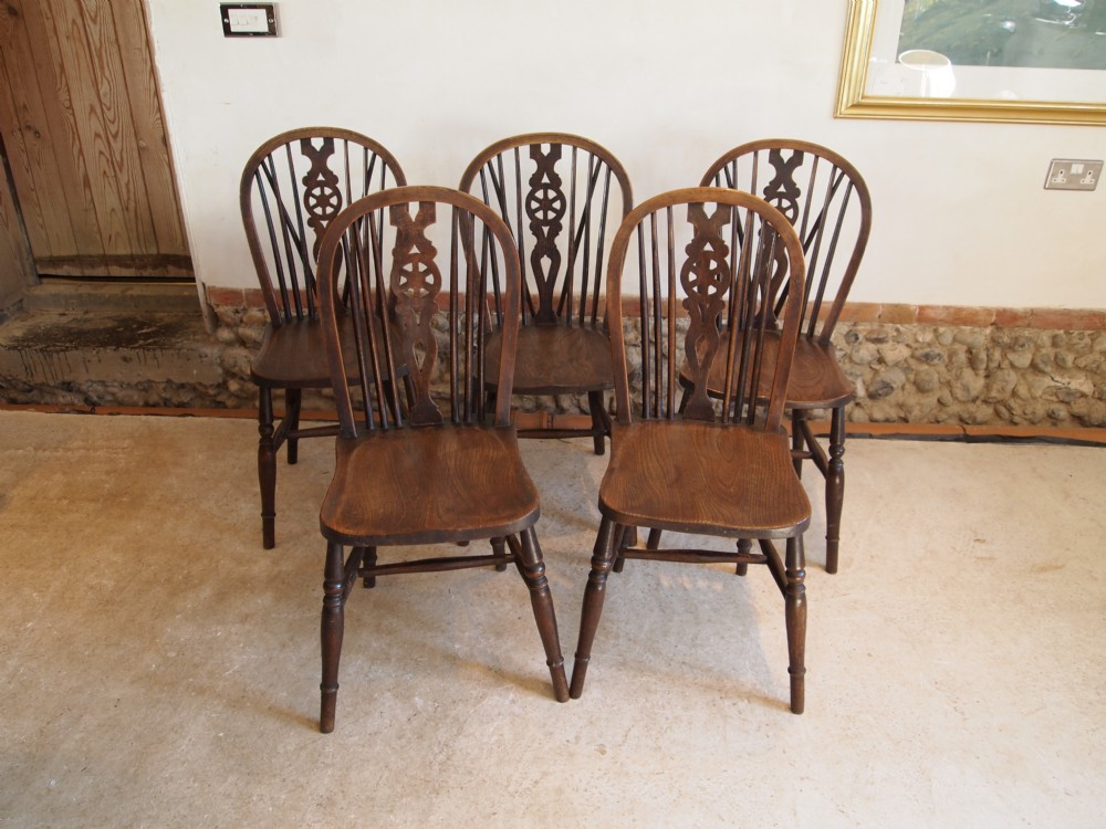 windsor kitchen chairs task with arms victorian wheel back or dining c1890