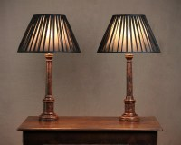 Pair Painted Column Table Lamps C.1920. | 314093 ...
