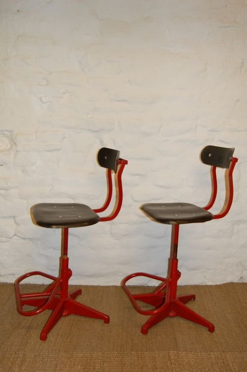 Antique Industrial Sewing Machine Chair  126372