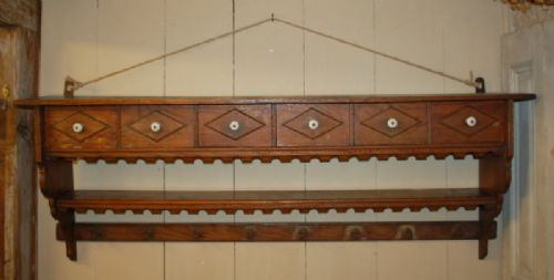 antique french wall shelf spice rack