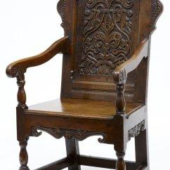 Throne Chair Cover Blue Sash 18th Century Antique Oak Wainscot