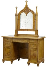 19th Century Swedish Birch Gothic Vanity Dressing Table ...