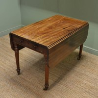 CHARACTERFUL COUNTRY ANTIQUE REGENCY SOLID MAHOGANY DROP ...