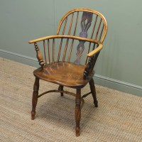 Country Georgian Antique Ash And Elm Windsor Chair ...