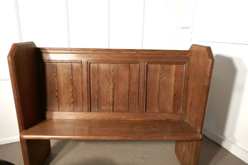 pine kitchen bench island with pull out table a victorian or church pew 552429 sellingantiques co uk
