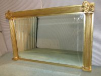 Large Gold Over Mantle Wall Mirror