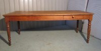 Large 19th French Cherry Wood Farmhouse Kitchen Table ...
