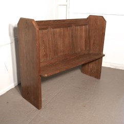 Pine Kitchen Bench Mobile Trailers A Victorian Or Church Pew 552429