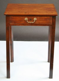 George 111 Mahogany Single Drawer Lamp Table | 286246 ...