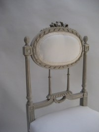 French Decorative Carved Painted Chair | 340753 ...
