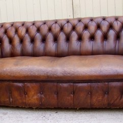Leather Chesterfield Sofa Beige Queen Sleeper Sectional 1920 39s Tan 517631
