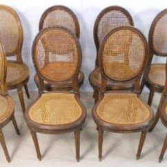 Bergere Dining Chairs Tall Office Uk Eight Walnut Framed 147699 Sellingantiques