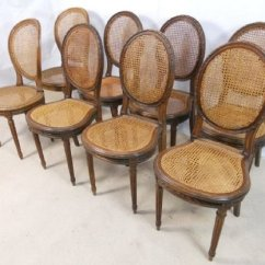 Bergere Dining Chairs Hydraulic Salon Chair For Sale Eight Walnut Framed 147699 Sellingantiques Sold