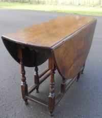 Large Antique Oak Gateleg Dining Table   446620 ...