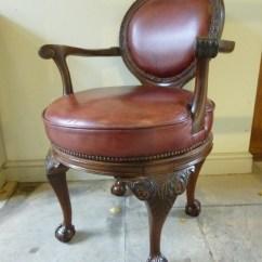 Revolving Chair Thames Massage Cushion 19th Century Library 376599 Sellingantiques Co Uk