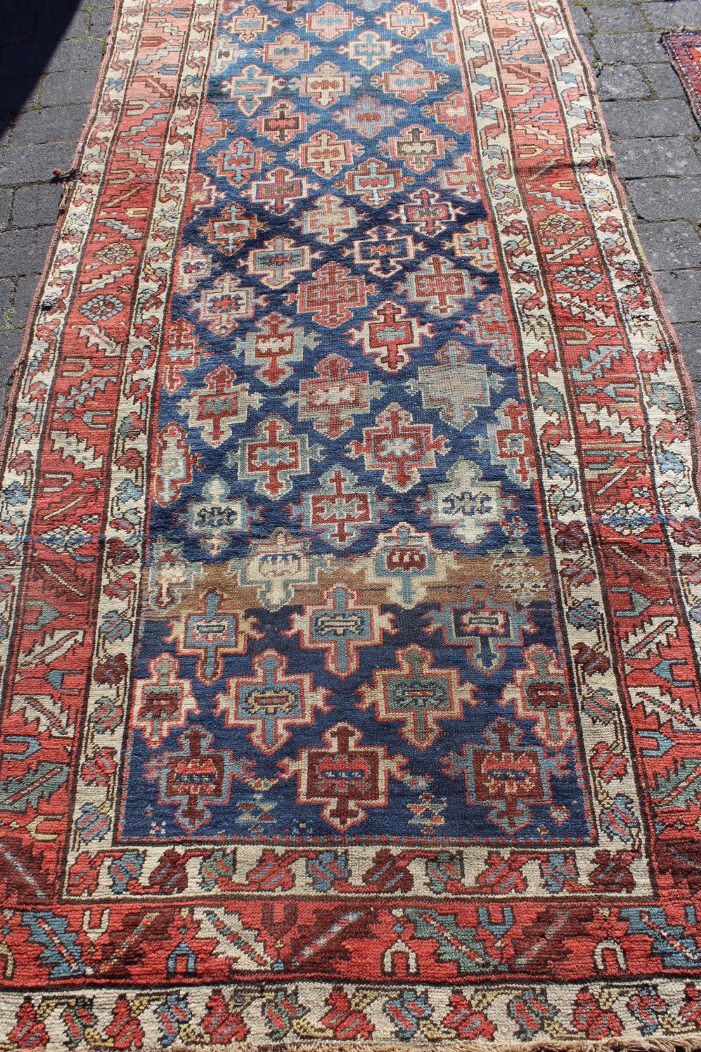 Antique Caucasian Karabagh Long Rug  340415  Sellingantiquescouk