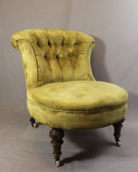 Victorian Button Back Bedroom / Nursing Chair | 413940 ...