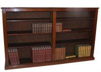 Victorian Long Low Open Double Bookcase | 41715 ...