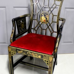 Chinese Chippendale Chairs Uk White Leather Lounge Chair A Very Pretty Style Lacquered Arm 473526