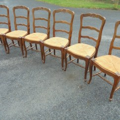 Ladder Back Dining Chairs French Country Chair Covers Made To Measure Set Six Oak Kitchen Or