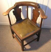 Georgian Oak Corner Chair | 69270 | Sellingantiques.co.uk