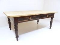 Large Pine Farmhouse Kitchen Table | 387489 ...