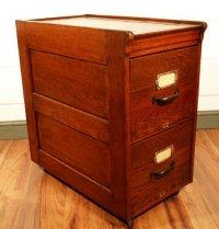 Antique Oak 2 Drawer Filing Cabinet | 129016 ...