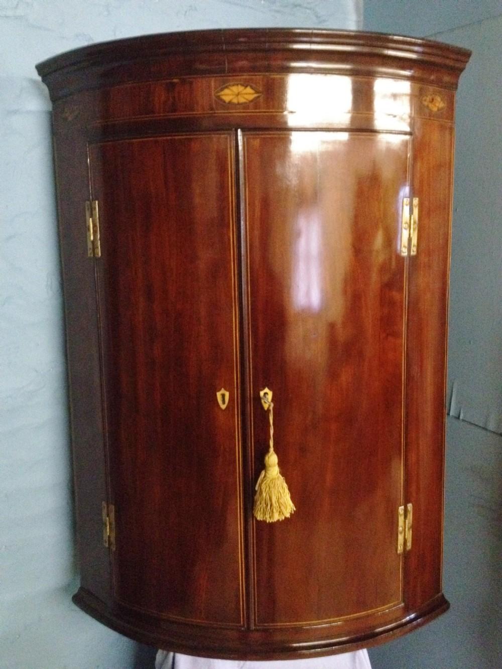 Mahogany Corner Cabinet  259826  Sellingantiquescouk