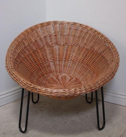 1960s Vintage Basket Chair  56892  Sellingantiquescouk