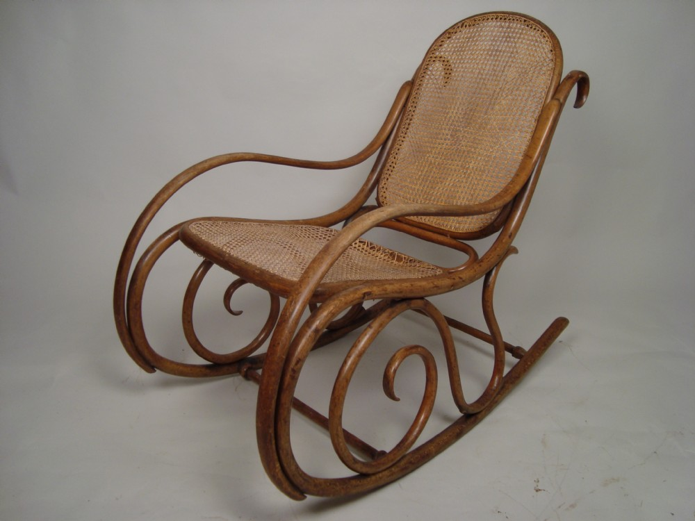 Antique Cane Rocking Chair C1920  238026
