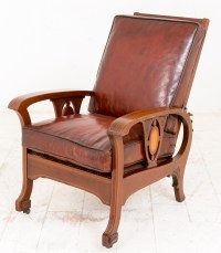 Late Victorian Leather Reclining Club Chair | 467111 ...