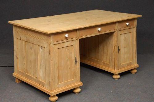 Large Antique Pine Desk  191586  Sellingantiquescouk