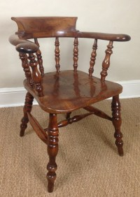 A Rare Yew Wood Captains Chair C 1880 | 250175 ...