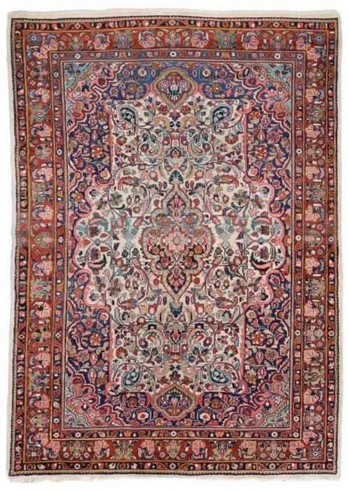 Antique Mahal Carpet / Rug West Persia