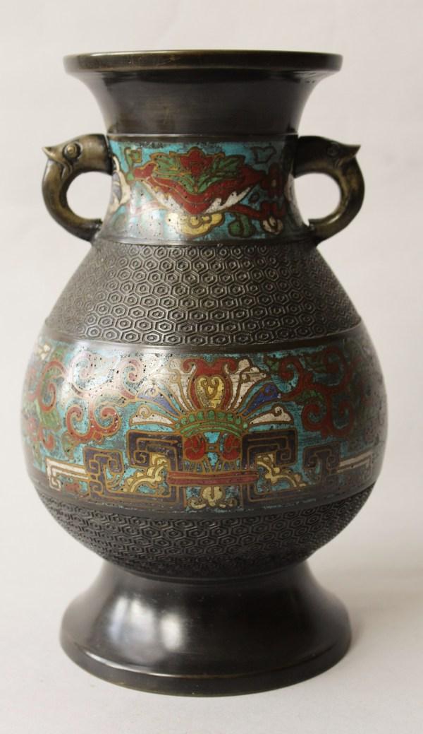 Chinese Provincial Cloisonne Enamel Vase 509137