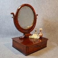 Antique Mirror Georgian Jewelry Box Dressing Vanity Swing ...