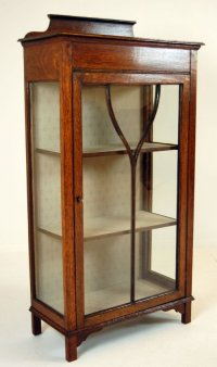 Glass Fronted Pier Cabinet Display Case Antique Oak