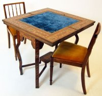 Antique game poker table