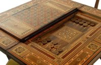 Games Card Table Bridge Backgammon Chess Antique Poker