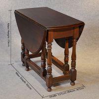 Antique Oak Oval Table Gate Leg Drop Flap Victorian ...